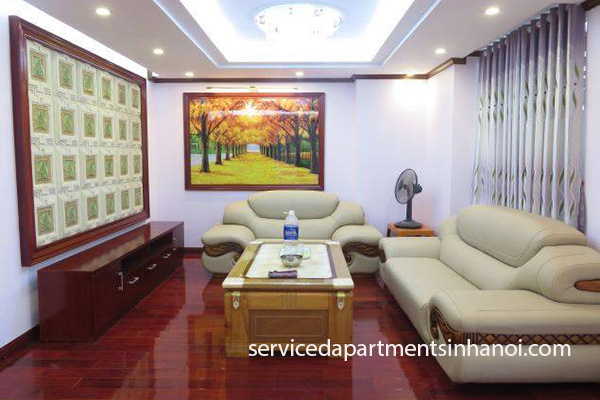 Apartment with modern interior furniture for rent in Cau Giay