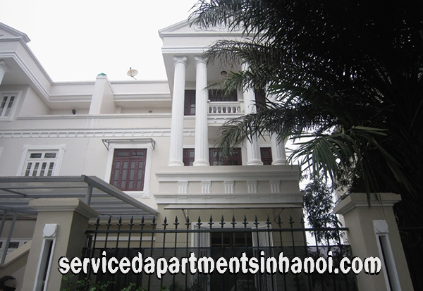 Beautiful Five bedroom Villa for rent in C7 Ciputra, Hanoi, Marble Floor, Open to the Garden