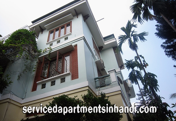 Beautiful Five Bedroom Villa for rent in Nghi Tam Village, Tay Ho, Large Garden With Lakeview