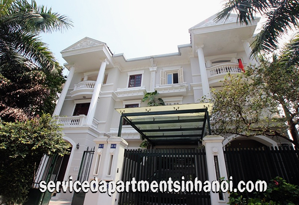 Beautiful Villa for rent in a very quiet block in Ciputra International Tay Ho, Hanoi