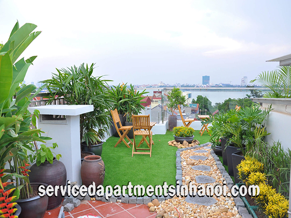 New One Bedroom Apartment Rental in Trich Sai street, Tay Ho, Very Nice Terrace