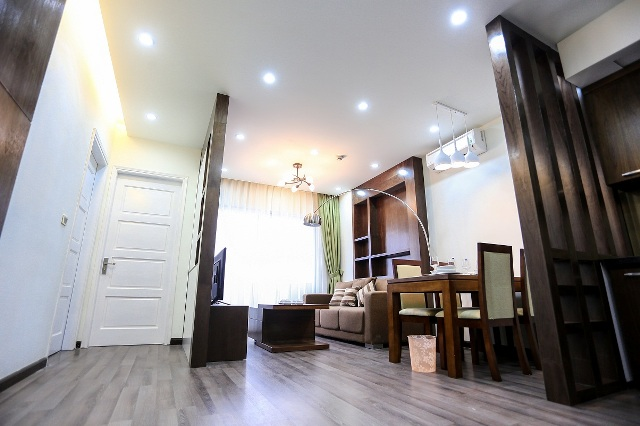 Brand New Serviced apartment for rent in Cau Giay, two beds, wooden floor