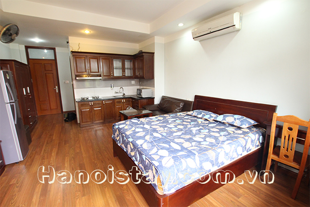 Bright Apartment Rental in Cat Linh Street, Dong Da, Nice Balcony