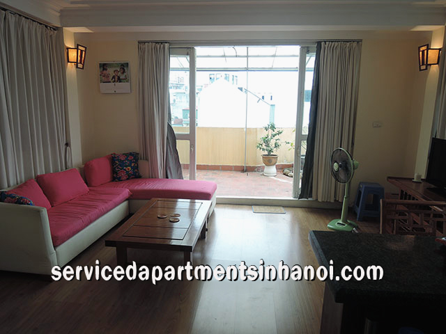 Bright Apartment With Balcony For rent in Nguyen Khac Hieu str, Truc Bach Area
