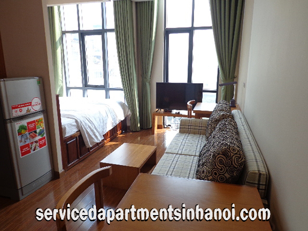 Bright studio for rent in Duy Tan str, Cau Giay district, Brand New Amenities