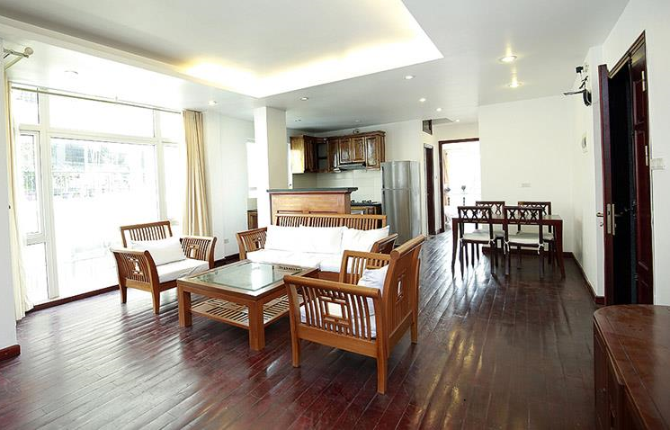 Bright two bedroom apartments for rent near Truc Bach lake, Ba Dinh