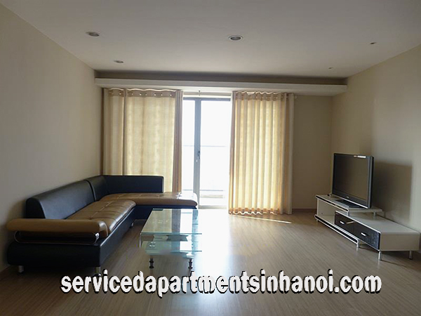 Budget Price Three Bedroom Apartment for rent in Sky City Tower, Dong Da distr