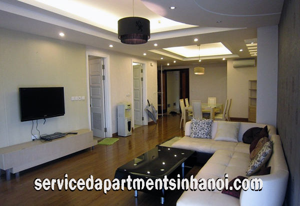 Convenient Three bedroom apartment for rent in Ciputra area, Tay Ho, fully furnished