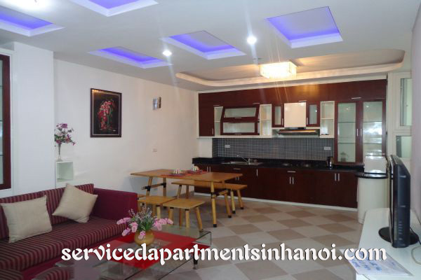Deluxe style serviced apartment for rent in Hai ba Trung