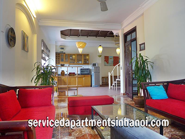 Duplex Three bedroom Apartment for rent in Truc Bach Area, Ba Dinh
