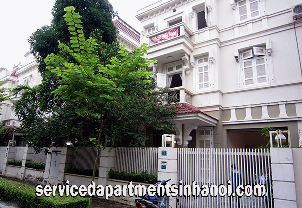 Elegant Four bedroom Villa for rent in C4 Ciputra Area, Tay Ho, Hanoi