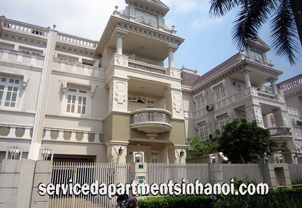 Four Bedroom Villa for rent in Block T1, Ciputra Hanoi international, Nice garden in the Front