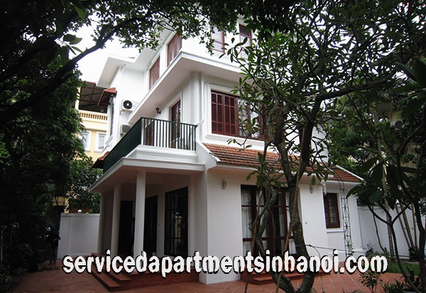 Four Bedroom villa with swimming Pool for rent in To Ngoc Van str, Tay Ho, direct Car Access