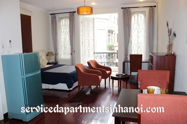 French style Studio apartment for rent in Quan Thanh st, Ba Dinh