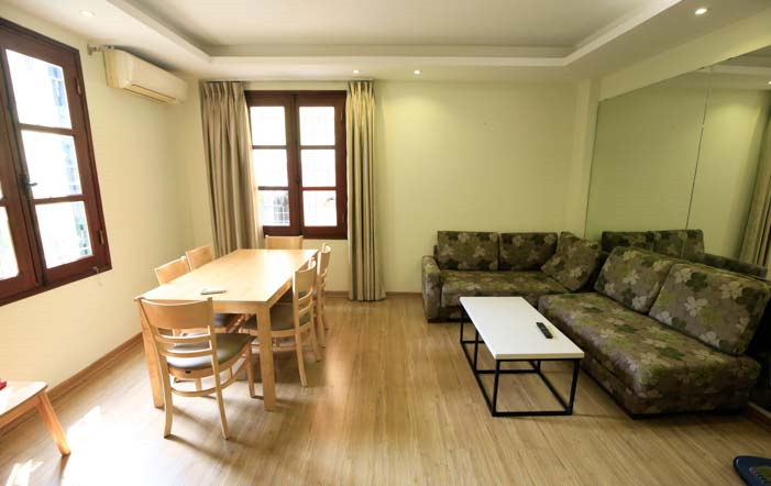 FULL FURNISHED SERVICED APARTMENT Rental in Kim Ma str, Ba Dinh - *WELL ORGANIZED*
