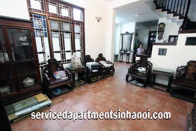 Fully Furnished Five Bedroom House For Rent In Doi Can Str, Ba Dinh Distr
