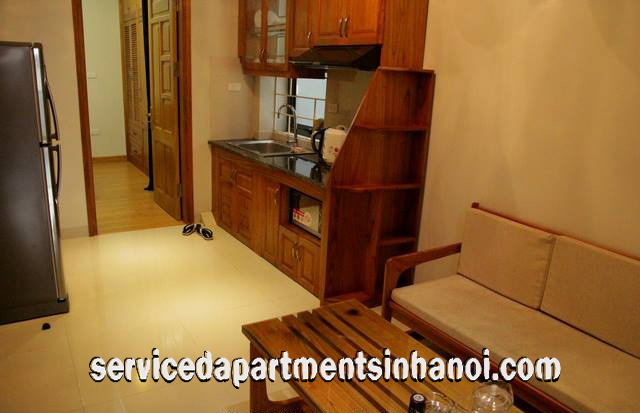 Fully furnished Two Bedroom Apartment Rental in Ngoc Khanh str, Ba Dinh, Cheap Price