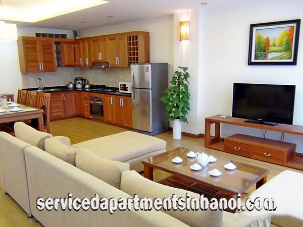 Furnished apartment with modern style for rent in Cau Giay