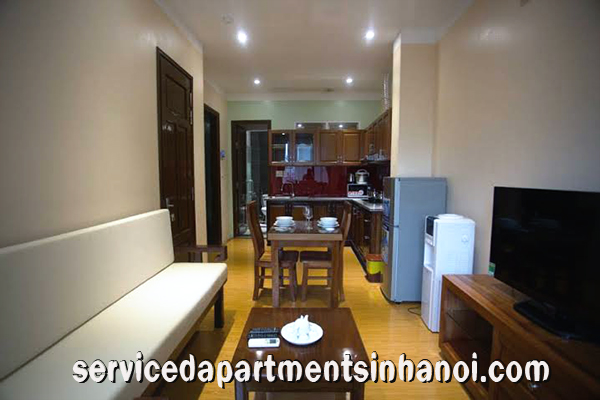 High Quality serviced apartment for rent in Nguyen Phong Sac Str, high floor