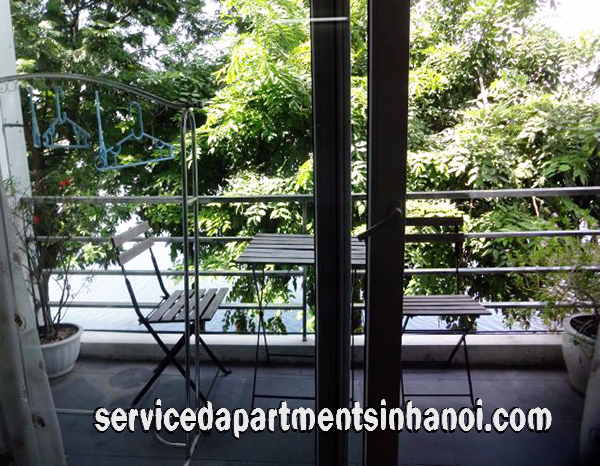 Lakeview Studio Type Apartment Rental in Truc Bach str, Ba Dinh, Lovely Balcony