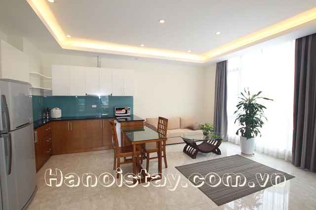 Lakeview Two Bedroom Serviced Apartment Rental in Le Duan street, Dong Da