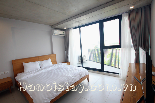 Lovely Lakeview One Bedroom Apartment Rental In Le Duan Street Dong Da
