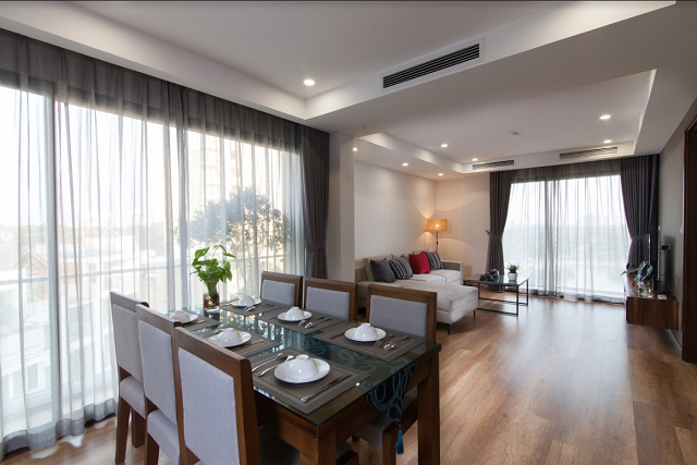 Luxury 2 Bedroom Serviced Apartment Rental in Dong Da District, Spacious, Airy with Lake View