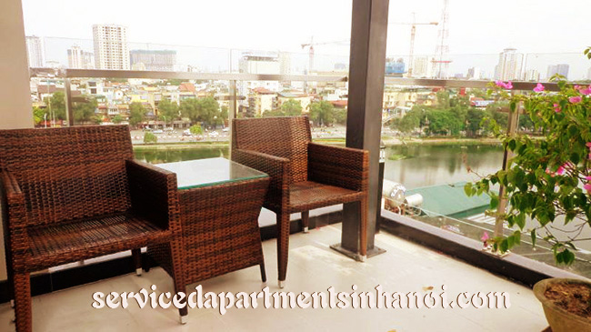 Luxury Penthouse serviced apartment for rent in Kim Ma str, 3 bed, Ngoc Khanh Lakeview