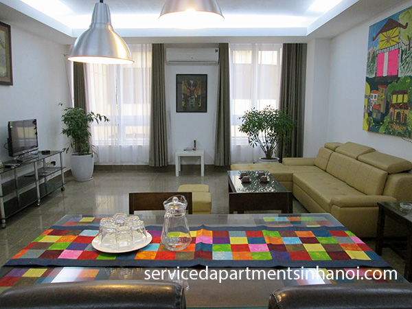 Modern and brand new two bedroom apartment for rent in Ba Dinh near Giang Vo street