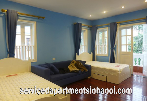 Modern Style Four bedroom Villa  for rent in Tay Ho, Ha Noi, Garage for Car, Direct Car Access