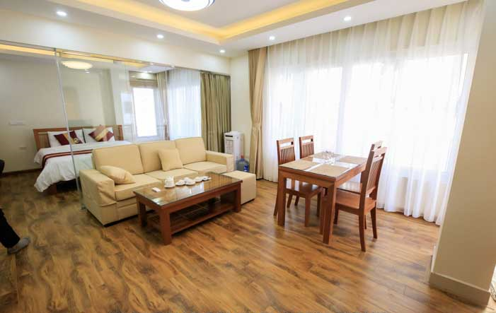 Newly Open Serviced Apartment Rental in Tran Thai Tong street, Cau Giay District
