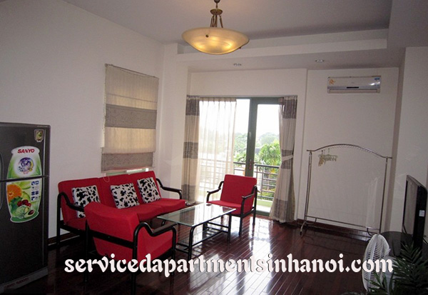 Open view serviced apartment with balcony for rent in Au Co street