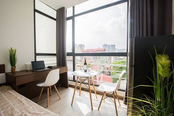 Pretty and Cozy Serviced Apartment Rental in Dong Da district, Full of Natural Light