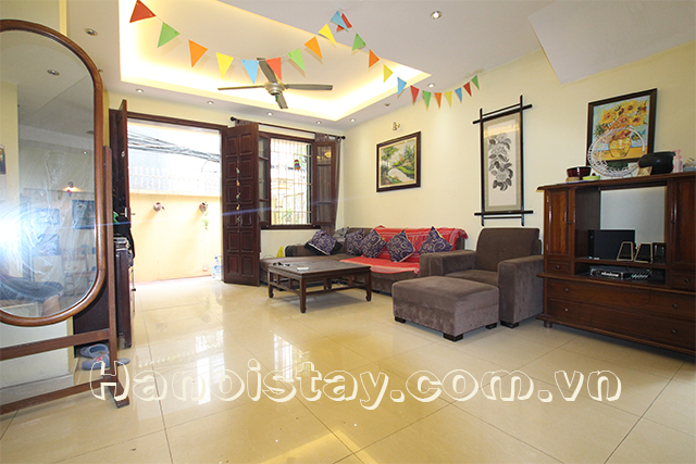 Spacious and Bright Four Bedroom House For rent in Doi Can street, Ba Dinh