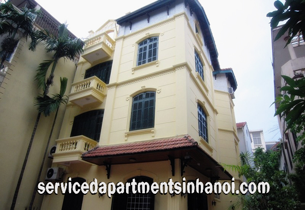 Spacious Five Bedroom Villa with a nice courtyard for rent in Dang Thai Mai str, Tay Ho
