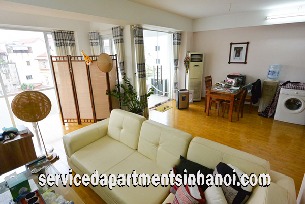 Spacious one bedroom apartment for rent on Nghi Tam village with swimming pool