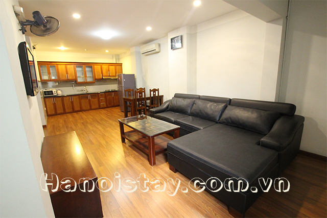 Spacious One Bedroom Apartment Rental in Dong Da district, Hanoi