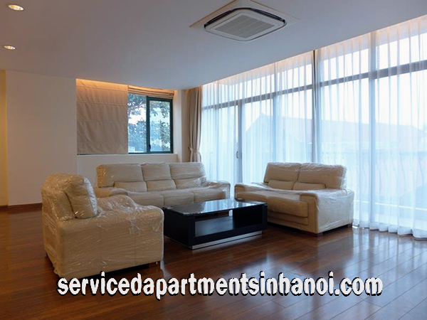 Spacious Three bedroom Apartment Rental with Lakeview in Truc Bach Str, Ba Dinh