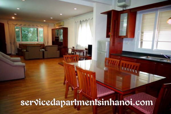 Spacious two bedroom serviced apartment for rent in Hai Ba Trung