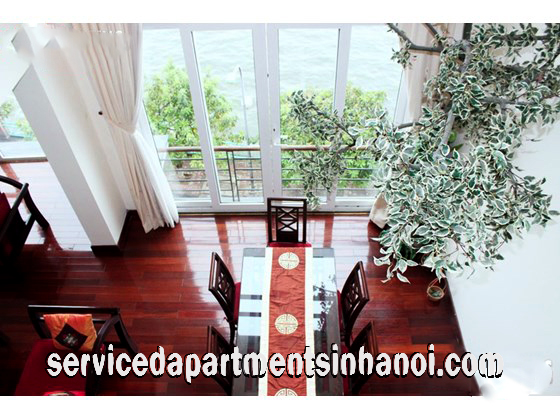 Stunning Duplex Two Bedroom Apartment for rent in Thuy Khue street, Beautiful Lakeview
