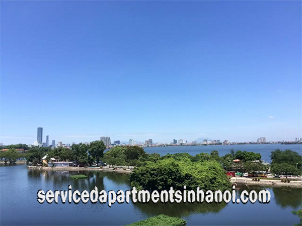Stunning Lake View One Bedroom Apartment Rental in Truc Bach Area, Ba Dinh