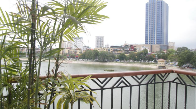 Stunning Lake View Two Bedroom Apartment Rental in Pham Huy Thong street, Ba Dinh