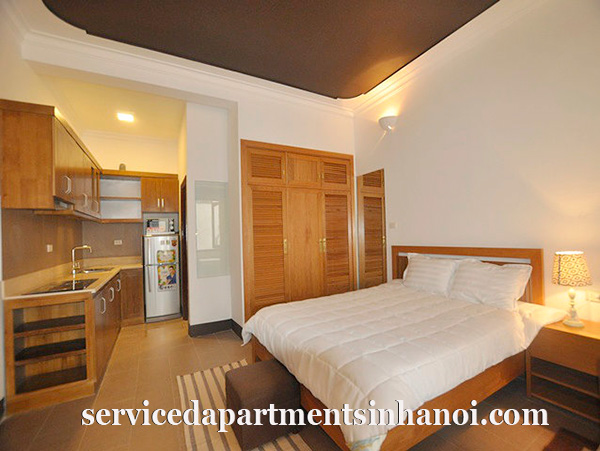 Stunning rental serviced apartment for rent in Tay Ho, one bed, full of light