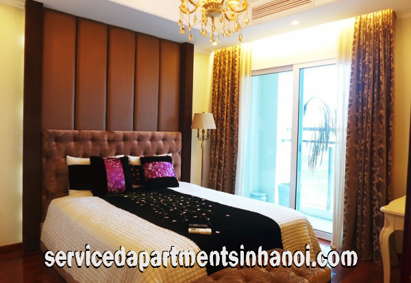Three bedroom apartment for rent in Ciputra area, Tay Ho, Classical style Furniture