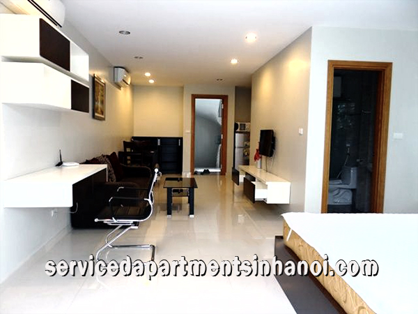 Truc Bach lake view one bedroom apartment rental in Ba dinh