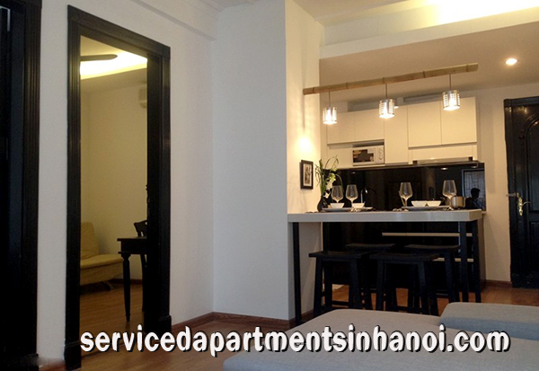Two bedroom apartment for rent in Ly Thuong Kiet str, Hoan Kiem