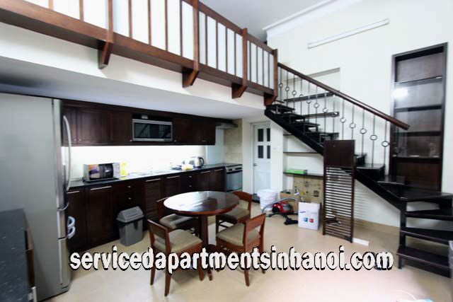 Two Level Serviced Apartment rental in Nguyen Truong To street, Ba Dinh