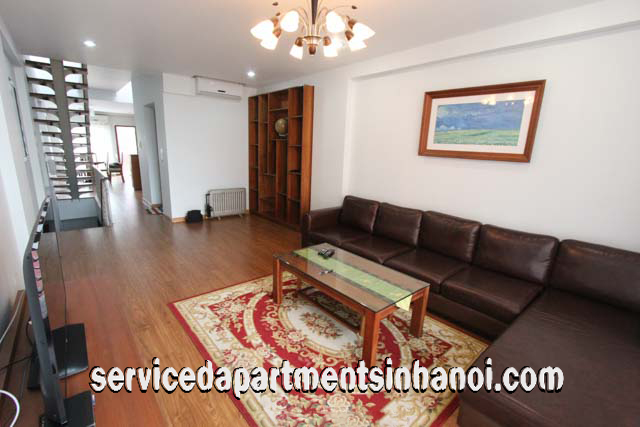 very nice duplex two bedroom apartment rental in center of hanoi